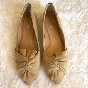 Dr Scholls Blush Pink Bow Tie Loafers